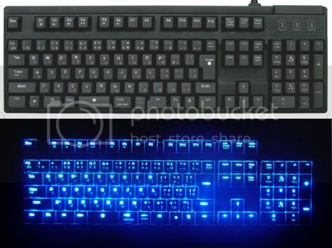 Owltech LED keyboard: LED keyboard to work in less light conditioned