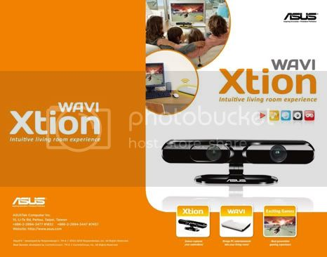 1 3 11 xtion1800 Asus WAVI Xtion: Similar to Kinect but is used in computer