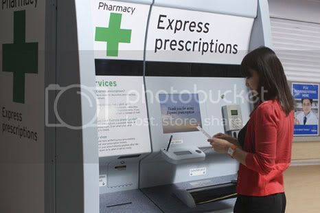 Prescription drug vending machines are being tested by Sainsbury