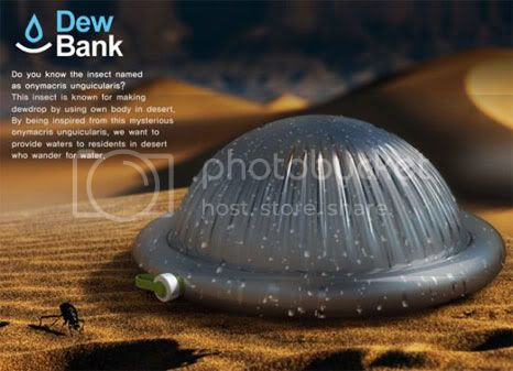 Dew Bank Bottle: drink bottle that can produce water from air
