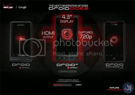 Motorola Droid X has officially launched!