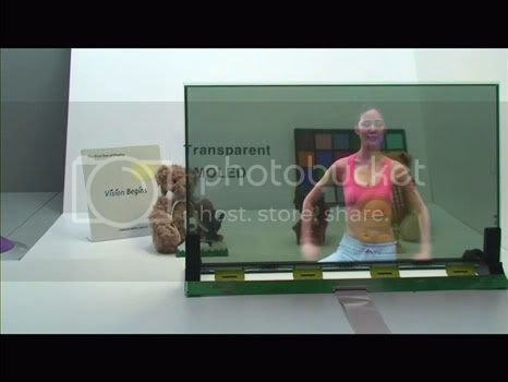 Transparent screen 19 inch sizes from Samsung