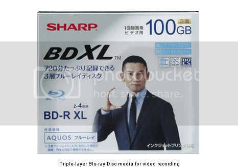Sharp BDXL: Blu-ray disc with a capacity of 100 GB
